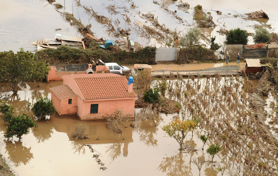 A house in the countryside hit by the floods in Sardinia. Credits: Ciro Fusco, Ansa