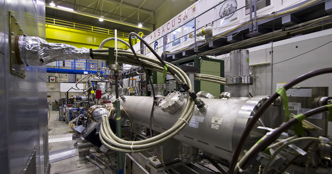 Apparatus instrumental in the production of an antihydrogen beam. Credits: INFN