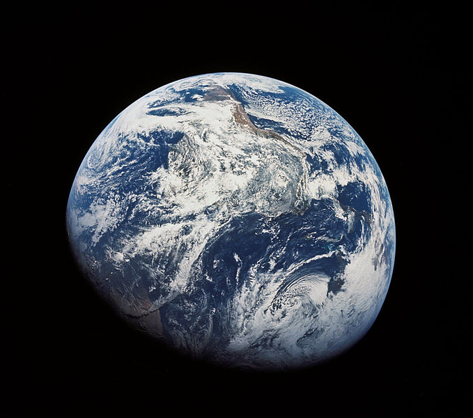The first image of the Earth photographed from the Moon by astronauts of the Apollo 8 mission in 1968. Credits: NASA