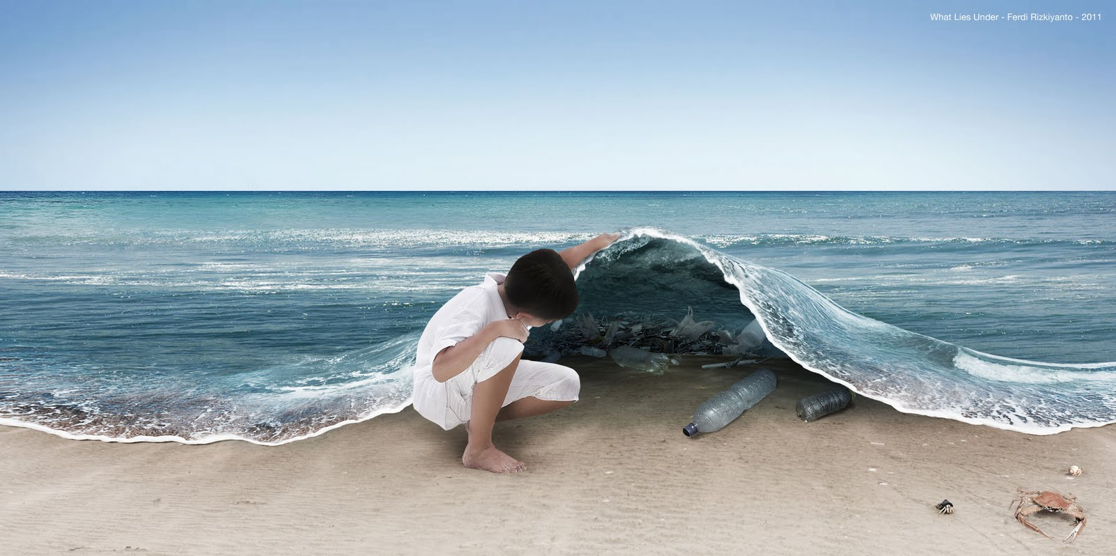 Pollution in the oceans (What lies under - Image F. Rizkiyanto 2011)