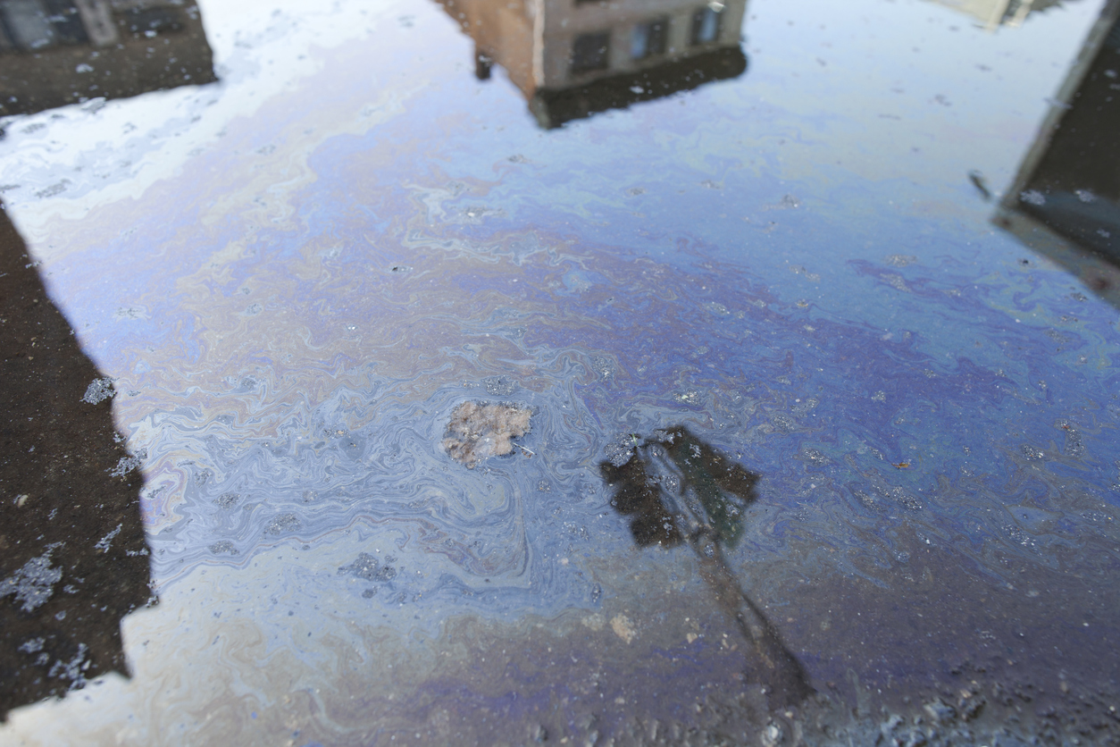 Oil Polluted Street